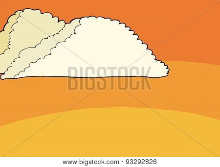 Bright Clouds In Sunset Sky