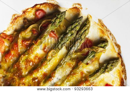 asparagus escalloped with cheese