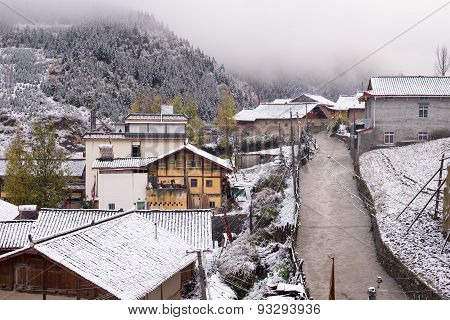 Snow-covered Village