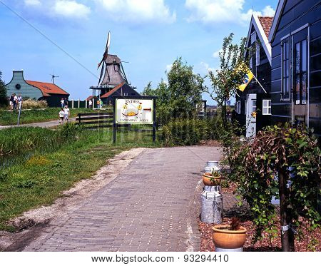 Cheese factory and windmill, Zaanse Schans.
