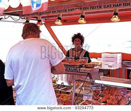 Seafood stall, Volendam.