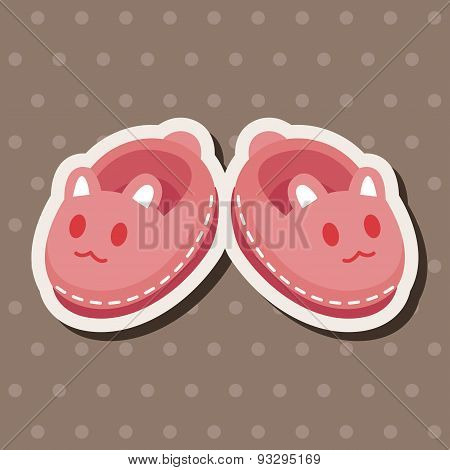 Baby Supplies Slippers Theme Elements