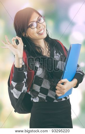 Modern Student With Bokeh Background
