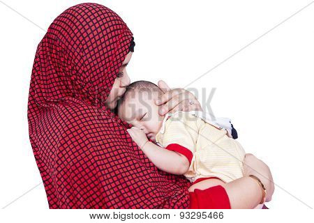 Muslim Woman And Baby Boy