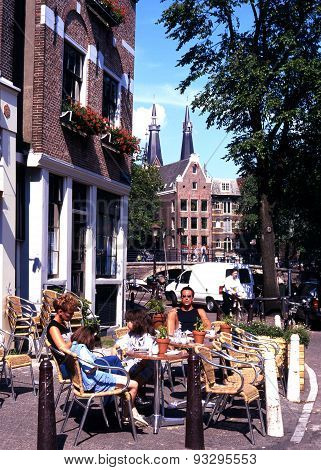 Pavement cafe, Amsterdam.