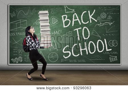 Schoolgirl With Book Back To School