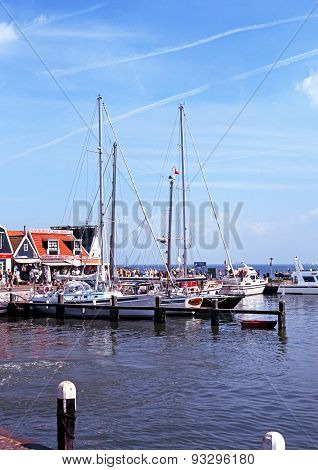 Volendam harbour, Holland.