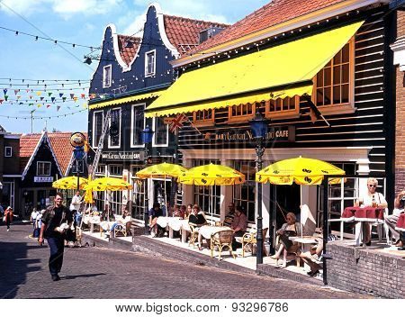 Pavement cafes, Volendam.