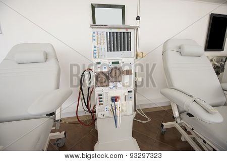 Dialysis Machine In A Medical Center