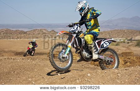 A Pair Of Motocross Racers Practice At Sara Park