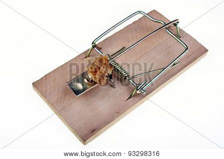 Mousetrap With A Piece Of Bread