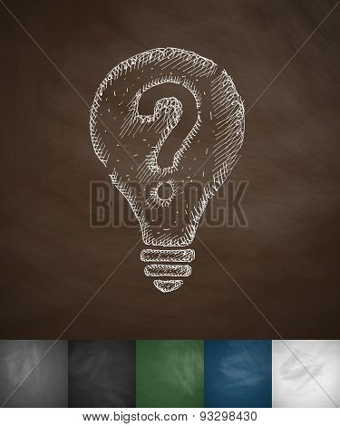 light bulb with a question mark icon
