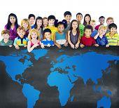 image of environmental conservation  - Global Globalization World Map Environmental Conservation Concept - JPG