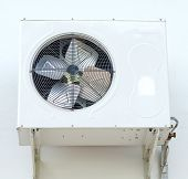 image of air compressor  - air conditione compressor on home white wall - JPG