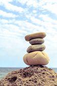 Постер, плакат: Stones Balance Inspiration Wellness Concept