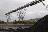 foto of mines  - high grade coking coal piles up at a loading facility for a Coal mine - JPG
