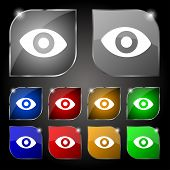 pic of senses  - sixth sense the eye icon sign - JPG
