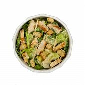 foto of caesar salad  - Classic Caesar Salad with croutons on white background - JPG