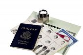 pic of social-security  - Passport fingerprint card driver - JPG