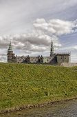 image of william shakespeare  - Kronborg castle made famous by William Shakespeare in his play about Hamlet situated in the Danish harbour town of Helsingor - JPG