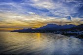 foto of glorious  - A glorious sunset at Makrygialos on the Greek island of Crete - JPG