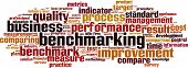 foto of benchmarking  - Benchmarking word cloud concept - JPG