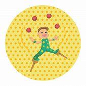 image of juggler  - Circus Theme Juggler Elements - JPG