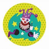 image of circus clown  - Circus Theme Clown Elements - JPG