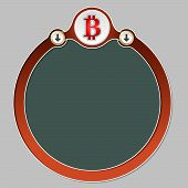 stock photo of bit coin  - Circular frame for your text and the symbol of bit coin - JPG