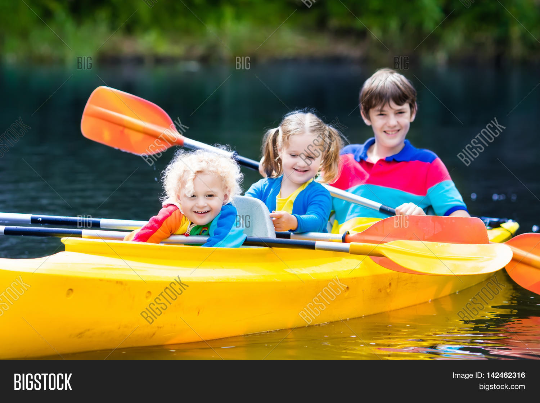 happy family three kids enjoying image u0026 photo bigstock