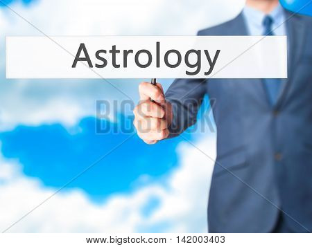 Astrology - Business Man Showing Sign