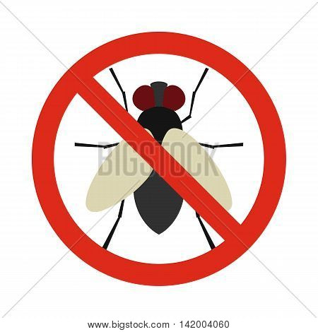 Prohibition sign glies icon in flat style isolated on white background. Warning symbol