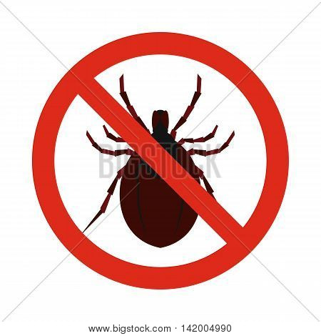 Prohibition sign clamp icon in flat style isolated on white background. Warning symbol