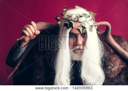 Zeus God With Antlers