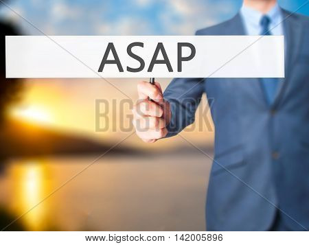 Asap - Business Man Showing Sign