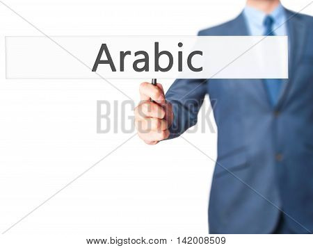 Arabic - Business Man Showing Sign