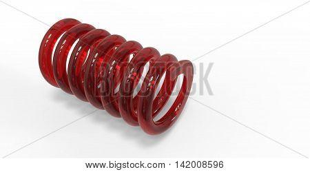 3D Render Of Glass Spring