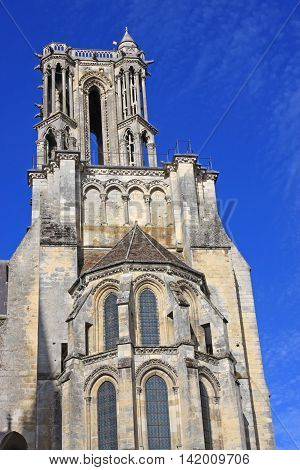 Tower of the cathedral in Laon, France