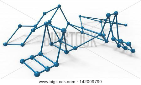 3D Render Illustration Of Abstract Futuristic Structure