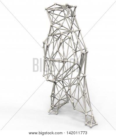 3D Render Illustration Of Bear Structure