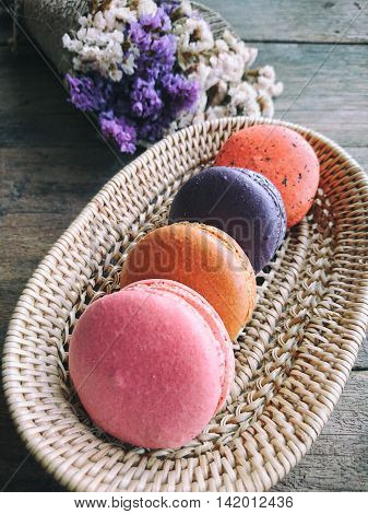 Pastal color french macarons look so sweet.Macarons is always popular dessert.Suitable for dessert background ,dessert backdrop ,dessert wallpaper and everything about dessert artwork for you design.