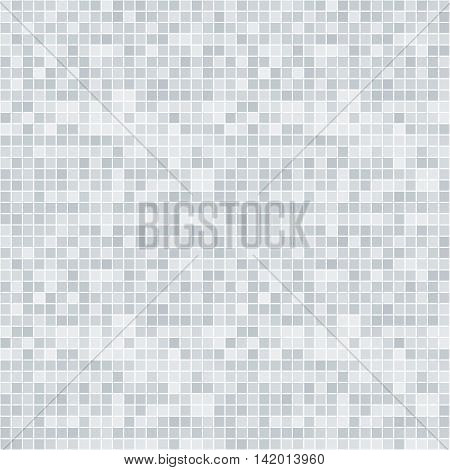 Abstract grayscale pixelated seamless pattern on white