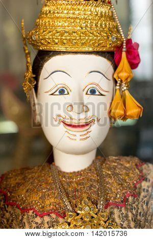 lady of thai miniature puppet Hoon Lakorn Lek Thailand