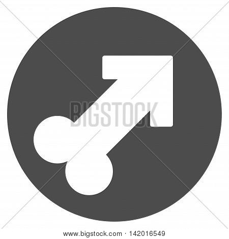 Erection vector icon. Style is flat symbol, gray color, rounded angles, white background.