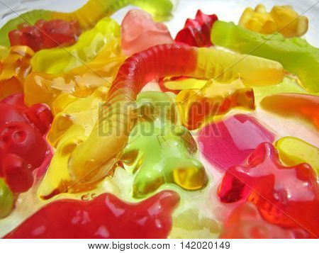 Boiled mucus from gummy bear - Children's cooking