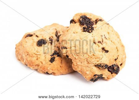 Cookies with raisin isolated