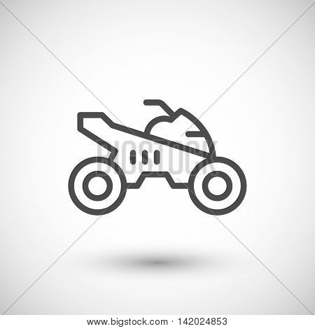 Quad bike line icon isolated on grey. Vector illustration