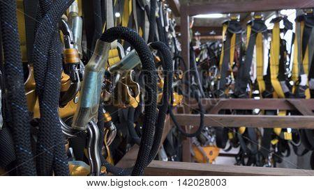 String Belt Safety Zipline Harness