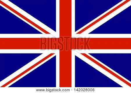 United Kingdom Flag. Vector illustration. Flag Great Britain