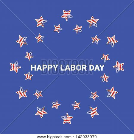 Labor day vector background. vector happy labor day poster or banner with with stars. labor day sale